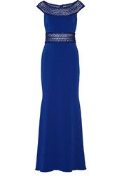Appliqued Cady Gown