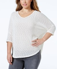 Jessica Simpson Plus Size Three Quarter Sleeve V Neck Sweater