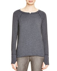 Michael Stars Notched Neck Sweatshirt Nocturnal