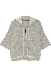Enza Costa Cotton Hooded Top Gray