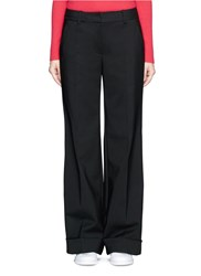 3.1 Phillip Lim Folded Cuff Wide Leg Pants Black