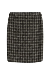 Sonia Rykiel Wool Blend Plaid Skirt Multicolor
