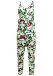 Franklin And Marshall Jumpsuit White Multicolor