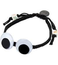 Venessa Arizaga Eye See You Ceramic Bracelet Black