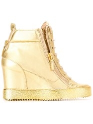 Giuseppe Zanotti Design 'Lorenz' Wedge Hi Top Sneakers Metallic