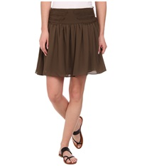 Sam Edelman Fit And Flare Skirt Canteen Women's Skirt Brown