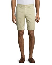 Robert Graham Journeyman Solid Flat Front Shorts Beige Khaki