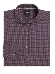 Strellson Sian Slim Fit Dress Shirt Purple