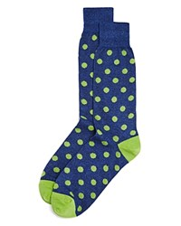 Bloomingdale's The Men's Store At Genova Dot Socks Royal Blue