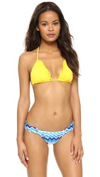 Shoshanna Sunflower Ruffle Triangle Bikini Top Sunflower Yellow