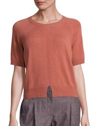 Peserico Virgin Wool Silk And Cashmere Sweater Spice