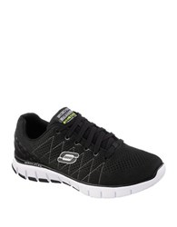 Skechers Sketch Flex Relaxed Fit Sneakers Black And White