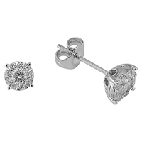 Ewa 18Ct White Gold Solitaire Effect Diamond Stud Earrings 0.50Ct