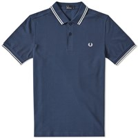Fred Perry Slim Fit Twin Tipped Polo Blue