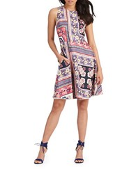 Donna Morgan Printed Fit And Flare Dress Tent Multi