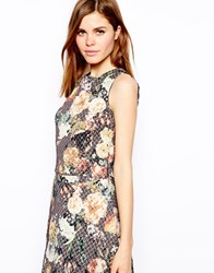 Warehouse Floral Jacquard Top Multi