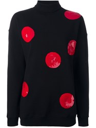 Msgm Sequin Polka Dot Jumper Black