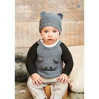 Rico Baby Classic Dk Baby Jumper And Hat Knitting Pattern 464