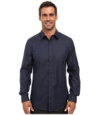 Perry Ellis Regualr Fit Non Iron Micro Box Print Shirt Eclipse Men's Long Sleeve Button Up Olive