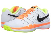 Nike Air Vapor Advantage White Volt Total Orange Black Men's Tennis Shoes Pink