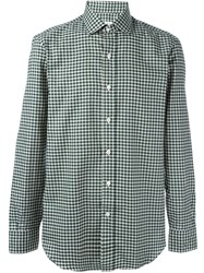 Salvatore Piccolo Checked Classic Shirt Green