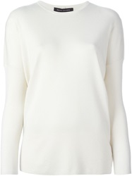 Ralph Lauren Black Label Ralph Lauren Black Dropped Shoulder Sweater Nude And Neutrals