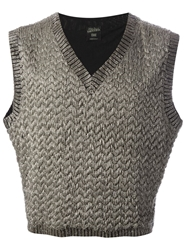 Jean Paul Gaultier Vintage Knitted Sleeveless Top Metallic
