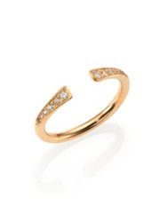 Zoe Chicco Diamond And 14K Yellow Gold Finger Cuff Ring