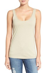 Ag Jeans Women's 'Isla' Cotton Tank Mojave Taupe