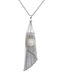 Macy's Pearl Lace By Effy Cultured Freshwater Pearl Cage Pendant Necklace In Sterling Silver 13Mm