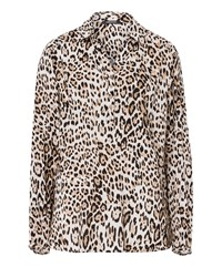 Olsen Animal Print Blouse Beige