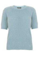 Quiz Pale Blue Fluffy Jumper