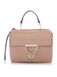 Coccinelle Arlettis Pink Small Flapover Crossbody Bag Pink