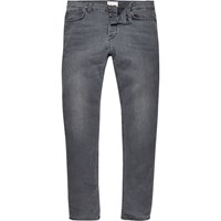 Only And Sons River Island Mens Grey Skinny Jeans
