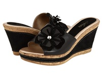 Spring Step Narcisse Black Leather Women's Wedge Shoes