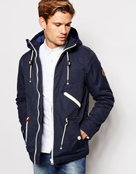 Blend Of America Blend Hooded Parka Jacket Navy
