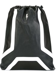 Neil Barrett 'Detroit' Sack Backpack Black