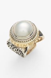 Konstantino 'Classics Courage' Pearl Ring Silver Gold