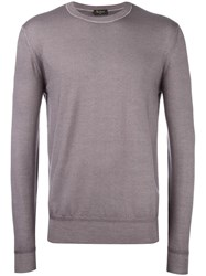 Berluti Crew Neck Jumper Pink Purple