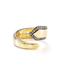 Botkier Tapered Two Tone Wrap Ring Gold