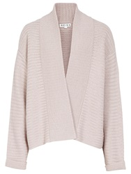 Reiss Maya Oversized Cardigan Light Rose