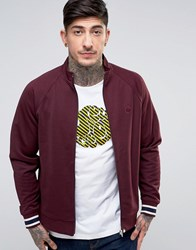 Pretty Green Forston Track Jacket In Burgun Burgundy Red