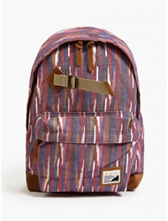 Master Piece Red Over Indian Ikat Backpack