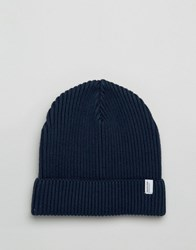 Selected Homme Beanie Rib Nathan Navy