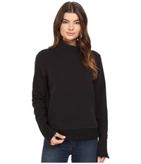 Bench Repay Mock Neck Sweatshirt Jet Black Women's Sweatshirt