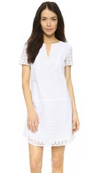 Three Dots Lorraine Eyelet Dress White