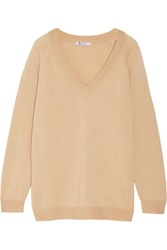 Alexander Wang T By Oversized Wool And Cashmere Blend Sweater Neutral