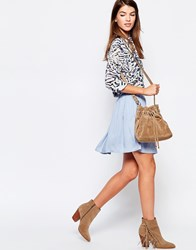 Glamorous Mini Skater Skirt Light Blue