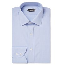Tom Ford Blue Slim Fit Cotton Shirt Light Blue