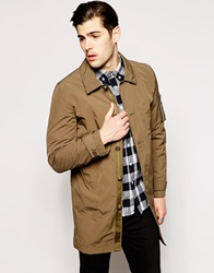Asos Lightweight Trench Green
